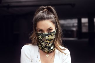 Camo Printed Face and Neck Bandana Mask