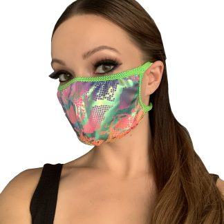 Rainbow Snake Print Face Mask
