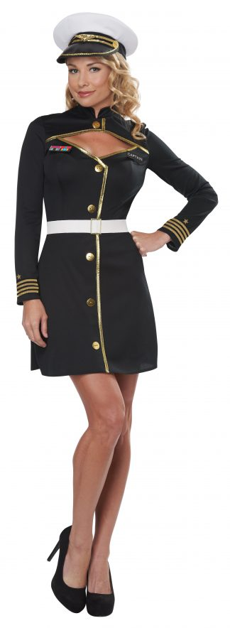 Black Navy Captain Adult Costume
