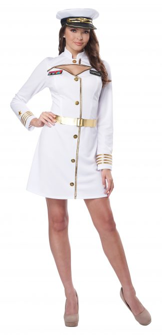 White Navy Captain Adult Costume
