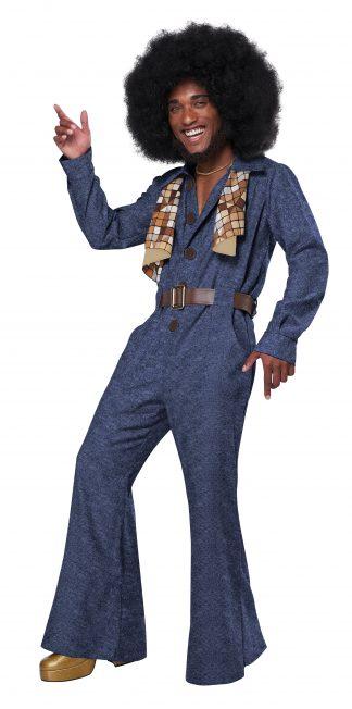 70's Denim Jumpsuit Adult Costume