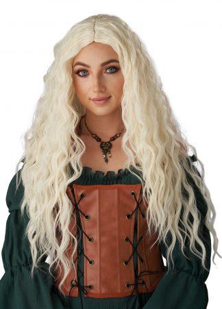 Icy Blonde Renaissance Maiden Wig
