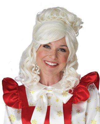 Mrs Claus Wig And Bun Clip Costume