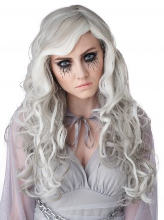Glow In The Dark Ghost Adult Wig