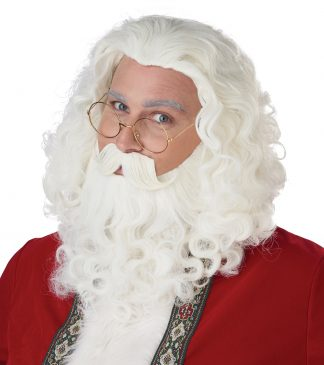 Santa Wig And Beard Set Includes Moustache
