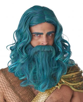 Ocean King Wig And Beard Set