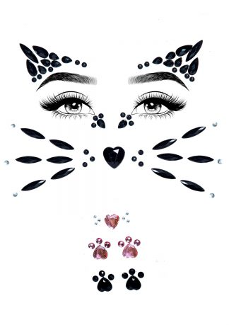 Animal Adhesive Face Jewels Sticker