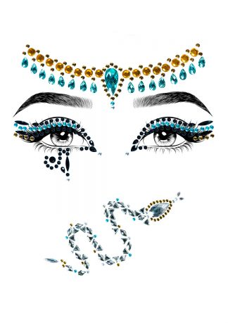 Cleopatra Adhesive Face Jewels Sticker