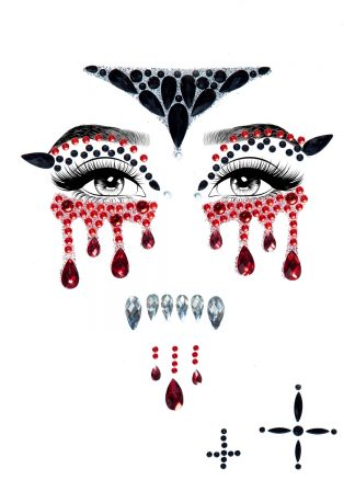 Vampire Adhesive Face Jewels Sticker