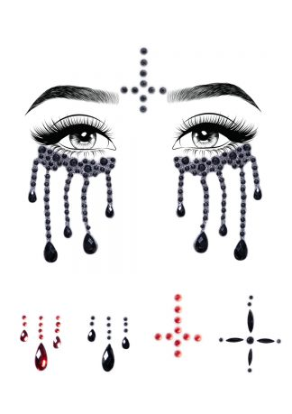 Possessed Adhesive Face Jewels Sticker