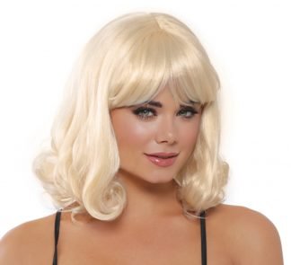 Mid-Length Blonde Curly Wig