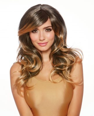 Brown/Honey Blonde Faux Ombre Long Layered Wig