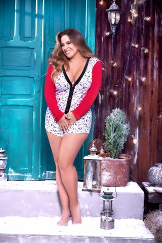 7336X Long Sleeve Sleep Romper