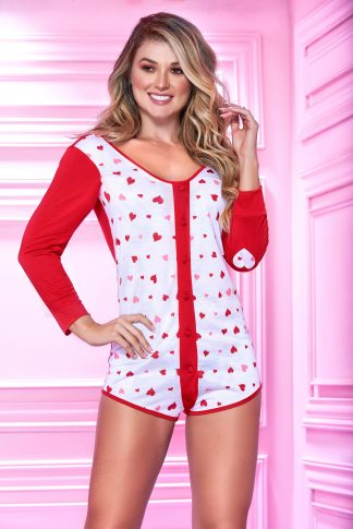 7339 Long Sleeve Sleep Romper