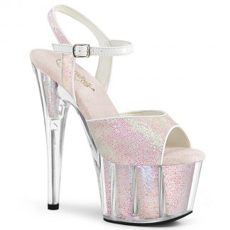 ADORE-710G Ankle Strap Sandals with Glitter Inserts
