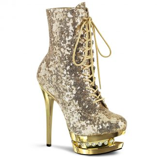 BLONDIE-R-1020 Lace-Up Sequined Ankle Boots