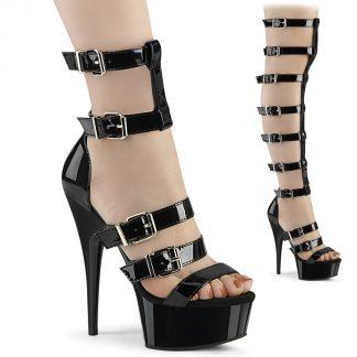 DELIGHT-600-46 Interchangeable Gladiator Sandal Boots