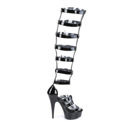 DELIGHT-600-46 Interchangeable Gladiator Sandal Boots