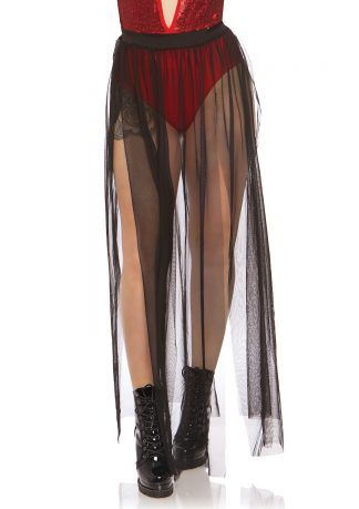 Multi Slit Sheer Skirt