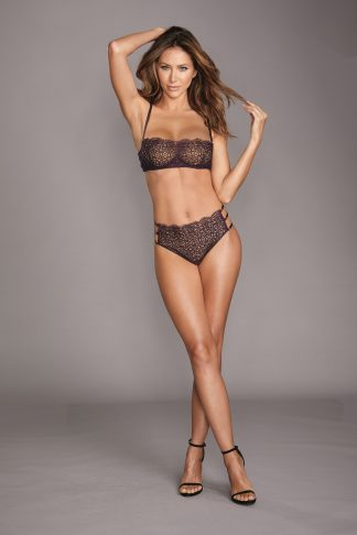 Venise Embroidery Bra & G-String Set With Strappy Elastic Back