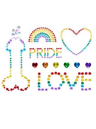 Pride Adhesive Body Jewels Stickers