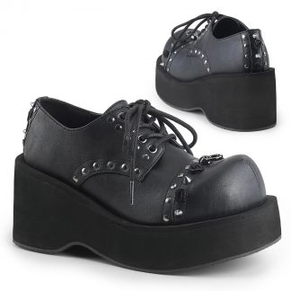 "Demonia DANK-110 3 1/4"" PF Lace-Up Oxford Shoe"