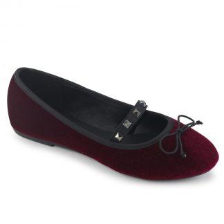 Demonia DRAC-07 Round Toe Mary Jane Ballet Flats