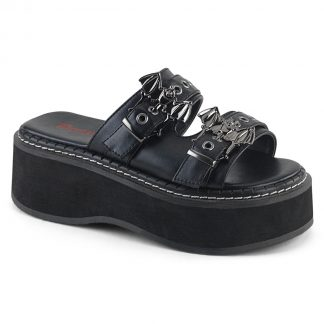 "Demonia EMILY-100 2"" Platform Double Strap Slide Sandal"
