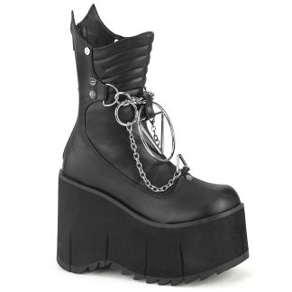 "Demonia KERA-130 4 1/2"" Platform Calf High Boot Metal Back Zip"