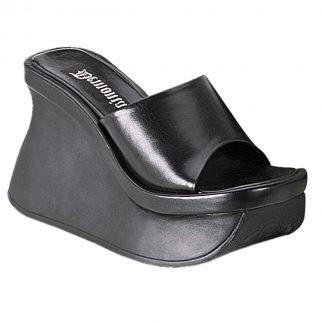 "Demonia PACE-01 4 1/2"" Goth Punk Wedge PF Sandal"