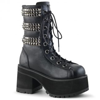 "Demonia RANGER-305 3 3/4"" Heel 2 1/4"" PF Lace-Up Ankle Boot"