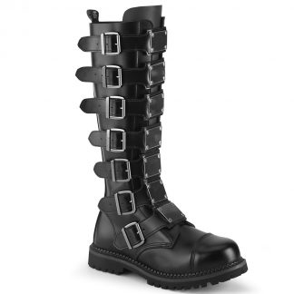 Demonia RIOT-21MP Unisex Steel Toe Knee Boot Rubber Sole