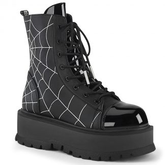 "Demonia SLACKER-88 2"" PF Lace-Up Ankle Boot"
