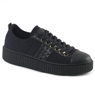 "Demonia SNEEKER-107 1 1/2"" PF Round Toe Lace-Up Front Low Top Creeper Sneaker"