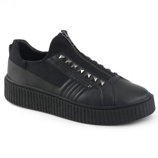 "Demonia SNEEKER-125 1 1/2"" PF Round Toe Zip Front Low Top Creeper Sneaker"