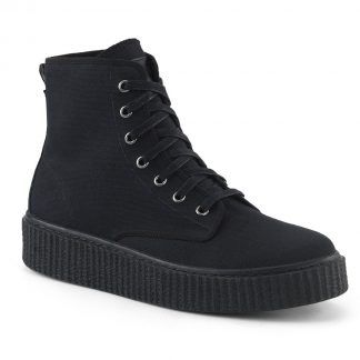 """Demonia SNEEKER-201 1 1/2""""PF Round Toe Lace Up Front High Top Creeper Sneaker"""