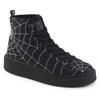 "Demonia SNEEKER-250 1 1/2""PF Round Toe Lace-Up Front High Top Creeper Sneaker"