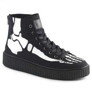 "Demonia SNEEKER-252 1 1/2""PF Round Toe Lace-Up Front High Top Creeper Sneaker"