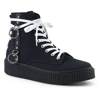 "Demonia SNEEKER-256 1 1/2"" PF Round Toe Lace-Up Front High Top Creeper Sneaker"