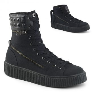"""Demonia SNEEKER-270 1 1/2""""PF Round Toe Lace-Up Front Convertible High Top"""