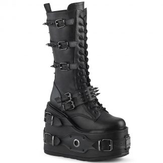 """Demonia SWING-327 5 1/2"""" PF Lace-Up Mid-Calf Boot Side Zip"""