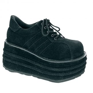 "Demonia TEMPO-08 3 1/2"" PF Vegan Faux Suede Shoes"