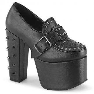 """Demonia TORMENT-500 5 1/2"""" Heel 3"""" PF Loafer with Buckle Strap"""