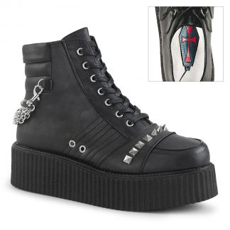 """Demonia V-CREEPER-565 2"""" PF Oxford Creeper Bootie Outer Side Zip"""