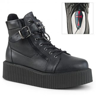 """Demonia V-CREEPER-566 2"""" PF Oxford Creeper Bootie Inner & Outer Side Zip"""