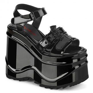 """Demonia WAVE-13 6"""" Wedge PF Hook & Loop Ankle Strap Sandal"""