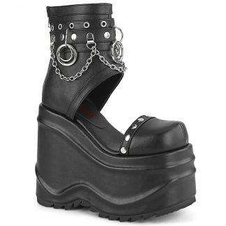 "Demonia WAVE-22 6"" (152mm) Wedge PF Bootie Sandal Back Zip"