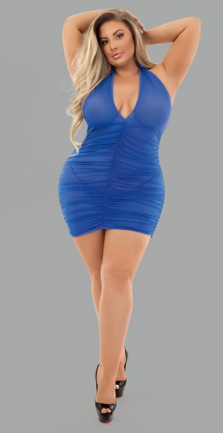39363X Halter Roughed Chemise