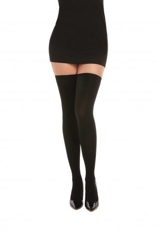 0366 Opaque Lace-Up Thigh High