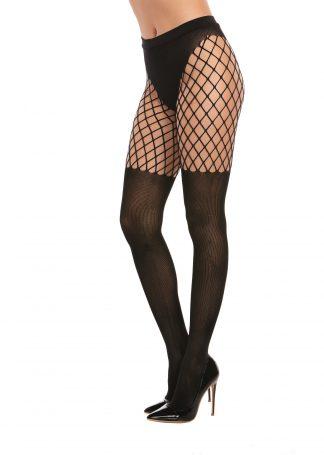 0367 Opaque Fence-Net Pantyhose